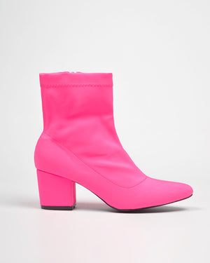 ALEX - pointed boots in fuchsia