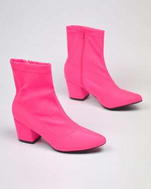 ALEX - pointed boots in fuchsia - QUANTICLO