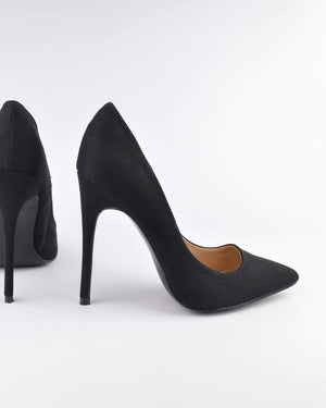 GRACE - Décolleté in black suede - QUANTICLO