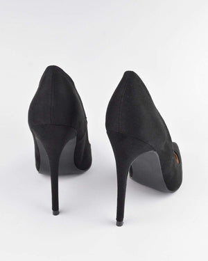 GRACE - Décolleté in black suede