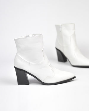 JANCIS - western ankle boots in white pu
