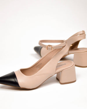 PARIS - nude mid heeled shoes - QUANTICLO