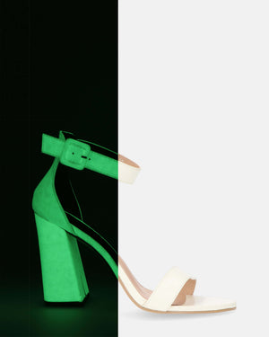 TAINY - glow in the dark heeled sandals - QUANTICLO