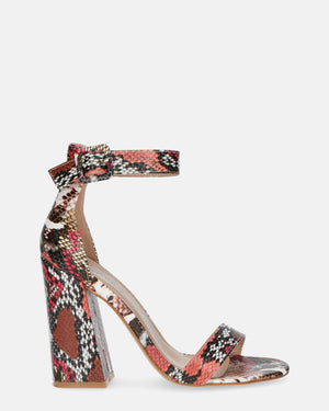 TAINY - snake heeled sandals - QUANTICLO