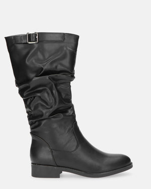 POLLY - knee high boots in black - QUANTICLO