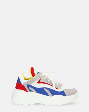 QUANTICLO Sporty - ASTRID chunky sneakers in red/blue - QUANTICLO