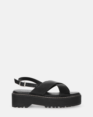 ISABEL - black platform sandals - QUANTICLO