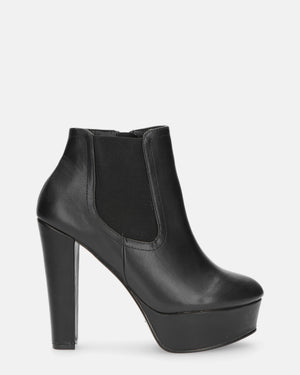 LIZZY - ankle boots in black pu - QUANTICLO