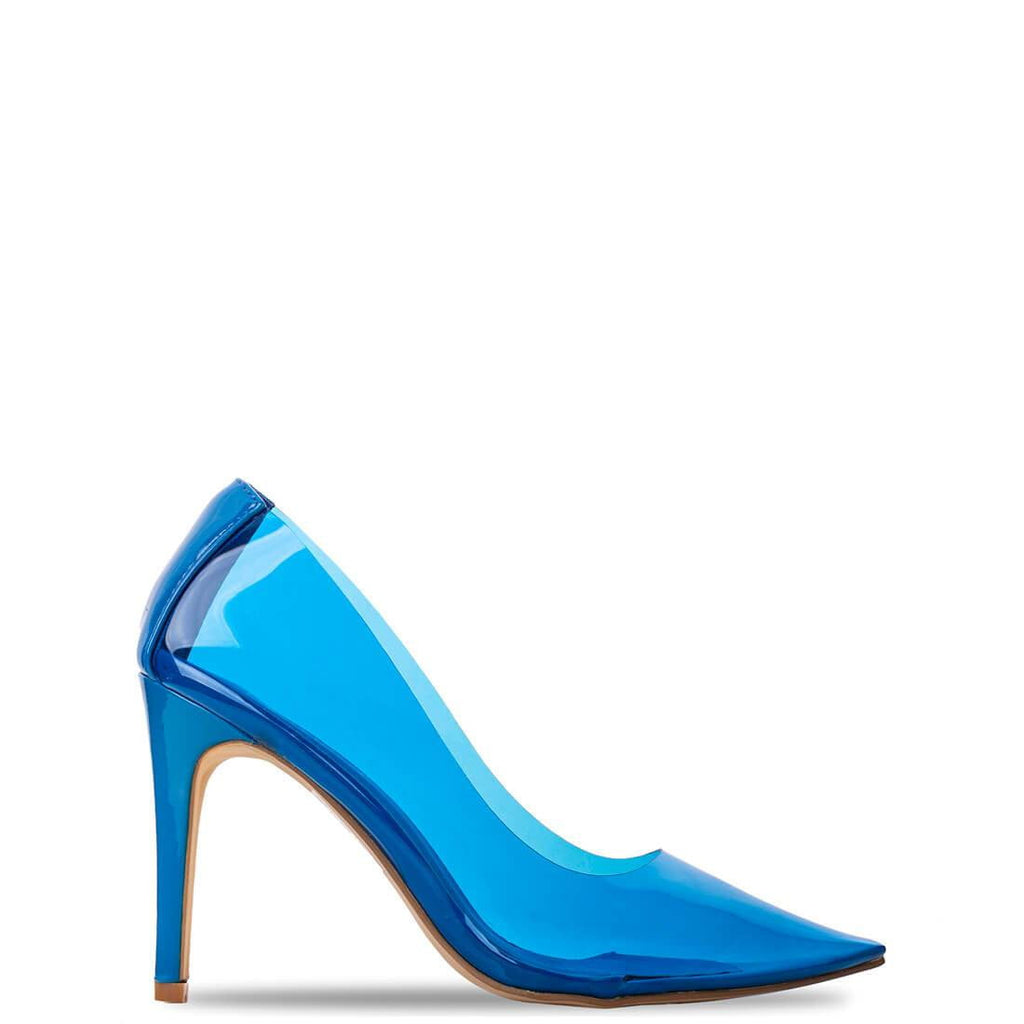 KANSAS - perspex stiletto heels in blue