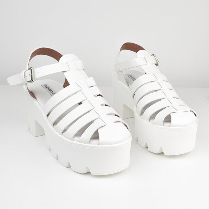 KRIS - white cleated sole sandals