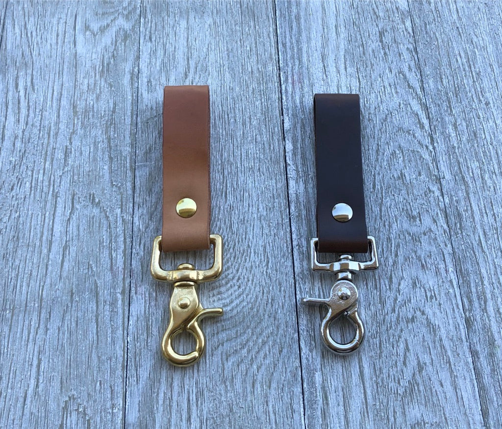 Horween Chromexcel/Herman Oak Natural Veg Tanned Belt Key Ring