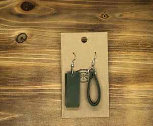 Folded Leather Earrings