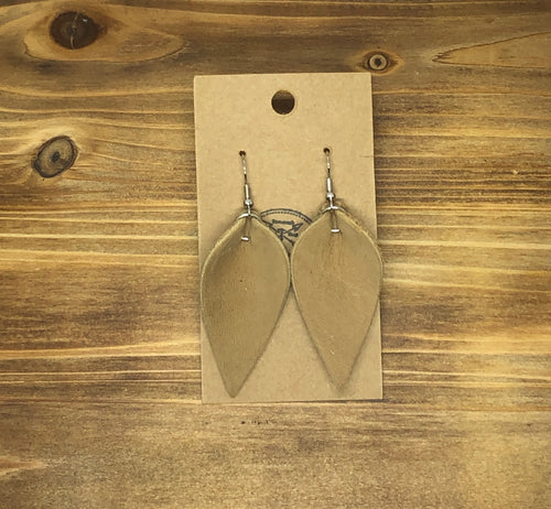 Pinched Leather Earrings