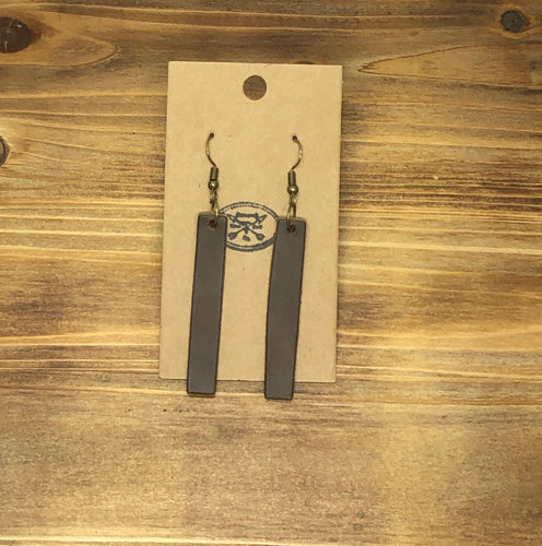 Bar Leather Earrings