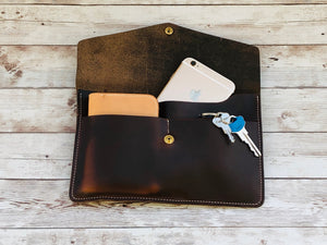 Horween Leather Clutch