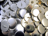 QUALITY PLAIN GOLD METAL POLISHED BLAZER BUTTONS with SHANK (B568) - ThreadandTrimmings