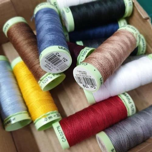 GUTERMANN TOP STITCH - 100% POLYESTER - 30M REEL - ASSORTED COLOURS