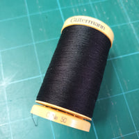 GUTERMANN COTTON THREAD - 400m - BLACK or WHITE - 100% COTTON THREAD