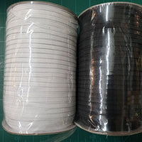 HIGH STRETCH SOFT ELASTIC - 3mm and 5mm / BLACK and WHITE / 200m Rolls