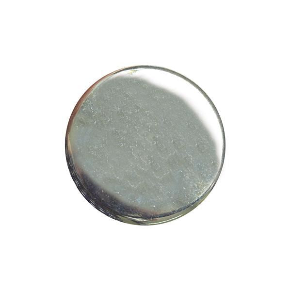 TOP QUALITY PLAIN SILVER METAL POLISHED BLAZER BUTTONS with SHANK (B568)
