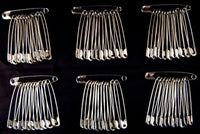 "** 2.25"" / 57mm LARGE SAFETY PINS"