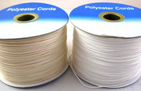 200m (FULL ROLL) of 1.2mm WHITE / CREAM  / BLACK POLYESTER ROMAN BLIND CORD
