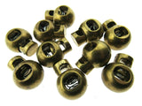 CORD STOPPER LOCK END TOGGLES with METAL  SPRING - 20mm x 18mm - FASTENERS