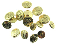 SHINY GOLD PLASTIC ANCHOR BLAZER BUTTONS - 15mm, 18mm & 20mm *FS* - ThreadandTrimmings
