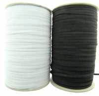12 CORD ELASTIC - BLACK or WHITE  ( 9mm APPROX) - ThreadandTrimmings