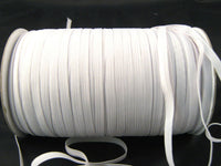 8 CORD ELASTIC - BLACK or WHITE  ( 6mm approx ) - ThreadandTrimmings