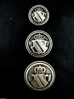 SILVER METAL MILITARY SHIELD BLAZER BUTTONS - Choose From 4 sizes B1978 - ThreadandTrimmings