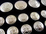 SHINY SILVER PLASTIC ANCHOR BLAZER BUTTONS - 15mm, 18mm & 20mm *FS* - ThreadandTrimmings