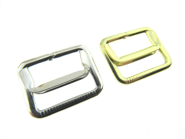 GOLD or SILVER 19mm WAISTCOAT BUCKLE with ADJUSTING BAR - ThreadandTrimmings