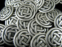 OXIDISED SILVER METAL CELTIC KNOT BUTTONS - 3 SIZES - 15mm, 19mm, 23mm