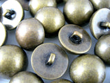 SMOOTH SHINY ANTIQUE BRONZE DOMED PLASTIC BUTTONS (B897)