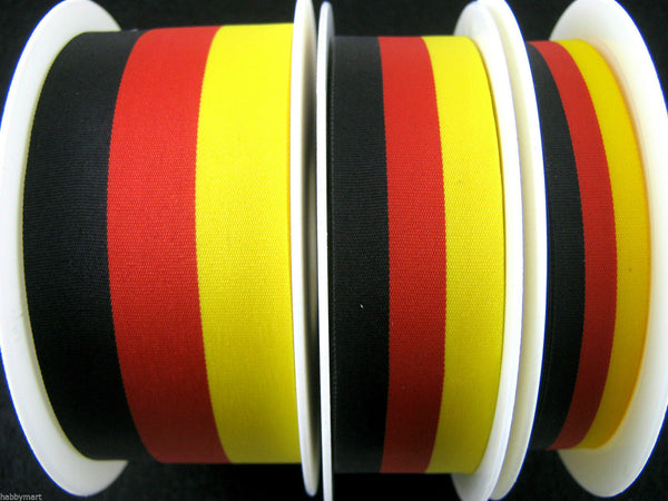 BLACK RED YELLOW RIBBON GERMAN BELGIUM COLOUR NATIONAL PATRIOTIC DEUTSCH RIBBON