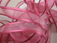 ** WHOLE ROLL ORGANZA CHIFFON RIBBON with DOUBLE SIDED SATIN EDGE - 25 x METER