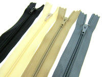 "CUSHION ZIPS - SIZES 12"" to 22"" - BULK 100, 50, 25 and 10's"