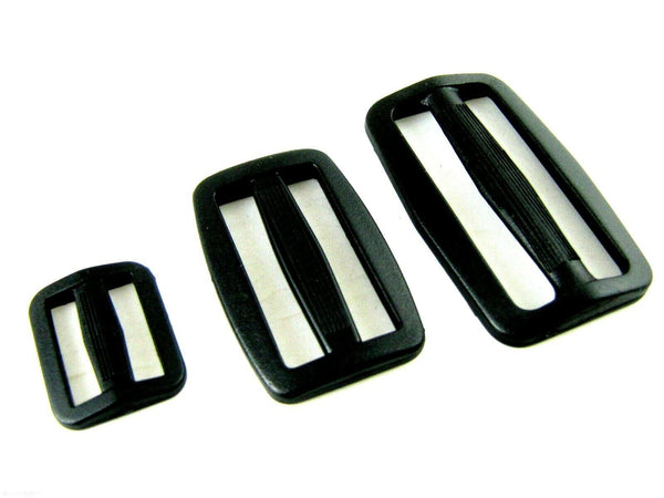 DELRIN PLASTIC SLIDERS For WEBBING - 20mm / 25mm / 40mm / 50mm - ThreadandTrimmings