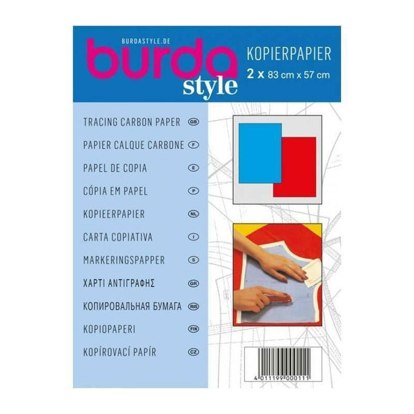 Burda Style Tracing Carbon Paper in red & Blue or Yellow & White - ThreadandTrimmings