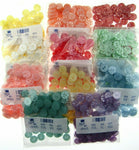** 100 x STAR BABY BUTTONS -  11 COLOURS & 3 SIZES - POLYESTER STAR BUTTONS