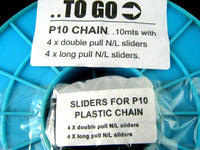 10 METER ROLL CHUNKY PLASTIC CONTINUOUS ZIP CHAIN #9 WEIGHT BLACK 9mm WIDE TEETH