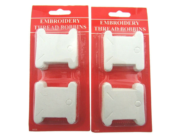 100 CARDBOARD EMBROIDERY THREAD BOBBINS FLOSS CARDS 38mm (2 x 50 packs)