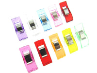 MULTI-PURPOSE WONDER CLIPS 10mm x 25mm - ASSORTED COLOURS - ThreadandTrimmings