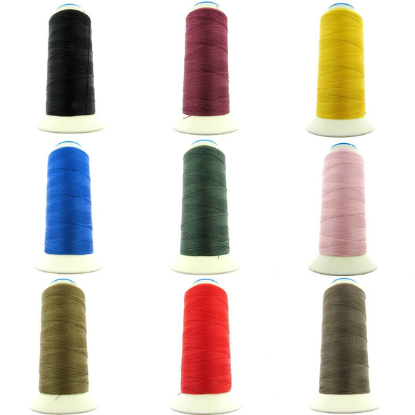 ** 500m SPOOLS of BONDED NYLON 40's THREAD - CHOOSE FROM 15 ASSORTED COLOURS - ThreadandTrimmings