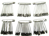 45mm LARGE NICKLE PLATED SAFETY PINS