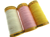** 6 x 200m GUTERMANN TACKING THREAD Col 919 /758 /2538 /NATURAL / PINK / YELLOW - ThreadandTrimmings