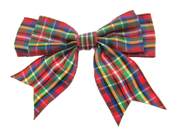 25mm TARTAN BOWS / RIBBON DOUBLE BOWS