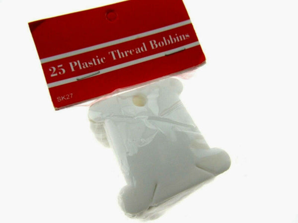 ** 600 PLASTIC EMBROIDERY THREAD BOBBINS FLOSS CARDS 38mm (24 x 25 packs) - ThreadandTrimmings