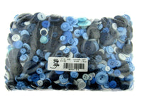 ** Mixed Blue Buttons -  Pastel and Bright Blue Craft Buttons - 1 Kilo Bag - ThreadandTrimmings